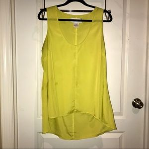 KARDASHIAN KOLLECTION LIME HI-LOW BLOUSE SIZE 18W